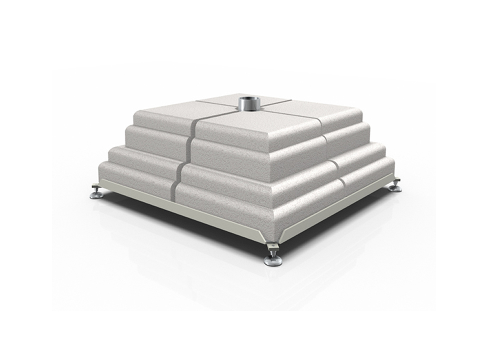 Iron base with 8 concrete weights set Poggesi